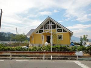 広島県呉市の国産桧ログハウス