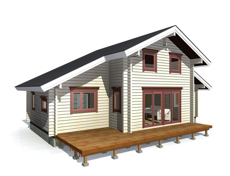ゆったりとした間取り、リビングの吹き抜けと大空間がダイナミックな別荘にピッタリのモデルです。