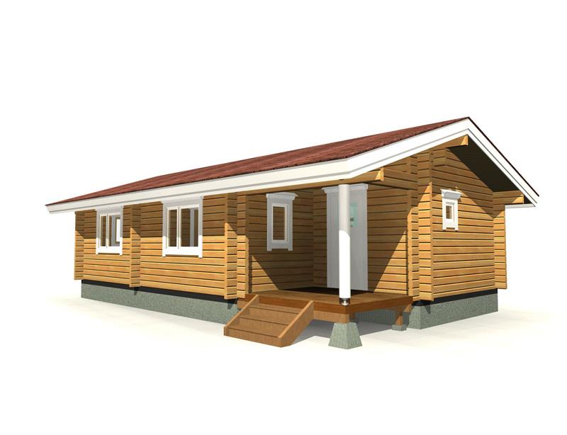 必要な機能がコンパクトにまとまった田舎暮らしにもぴったりのモデルです。大きめの屋根付きテラスも便利です。