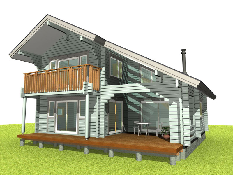 インサイドデッキが楽しい住宅モデル
