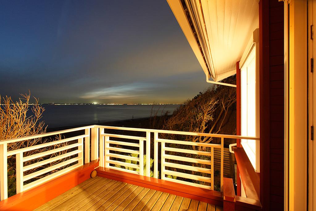 目の前に海が見渡せ、開放感がある2階