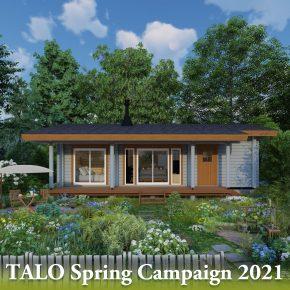 平屋ログハウスで理想の田舎暮らし 春のキャンペーン開催 2021年6月30日まで