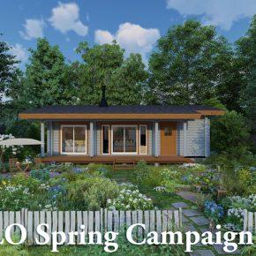 春の平屋ログハウスキャンペーン2021がスタート!