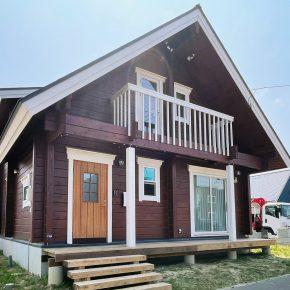 北海道に国産檜ログのオープンハウスができました!